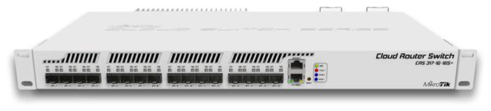 """Коммутатор 1U 19"""" RM MikroTik """"CRS317-1G-16S+RM"""" 1 порт 1Гбит/сек. + 16 портов SFP+, управляемый"""