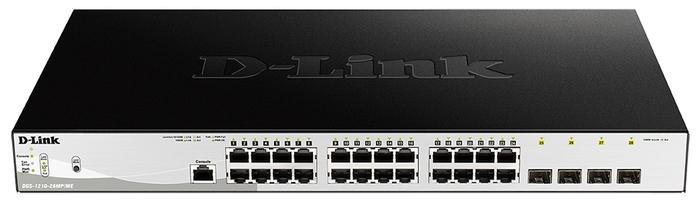 """Коммутатор 1U 19"""" RM D-Link """"DGS-1210-28MP/ME/B1A"""" 24 порта 1Гбит/сек. + 4 порта SFP, управляемый"""