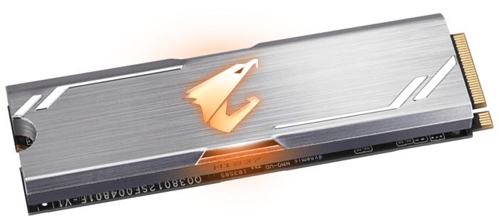 "SSD диск 512ГБ M.2 GIGABYTE ""AORUS RGB GP-ASM2NE2512GTTDR"""
