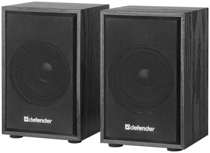 """Акустическая система стерео Defender """"SPK-250"""" 65225, 2x4Вт, черный"""