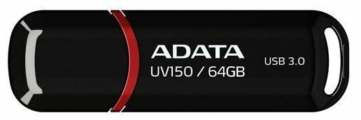 "Накопитель USB flash 64ГБ ADATA ""FlashDrive UV150"" AUV150-64G-RBK, черный"