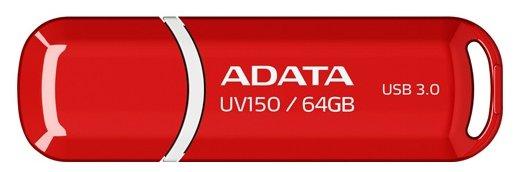 """Накопитель USB flash 64ГБ ADATA """"FlashDrive UV150"""" AUV150-64G-RRD, красно-белый"""