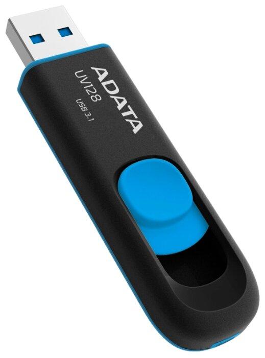 "Накопитель USB flash 32ГБ ADATA ""FlashDrive UV128"" AUV128-32G-RBE, черно-синий"