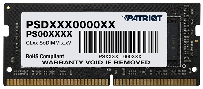 """Модуль памяти SO-DIMM 8ГБ DDR4 SDRAM Patriot """"PSD48G266681S"""""""