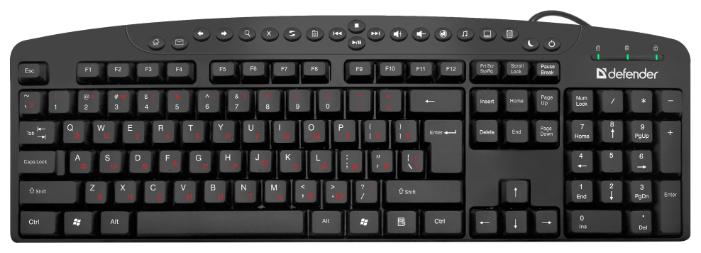 """Клавиатура Defender """"HB-450 Atlas"""" 45450, черный"""