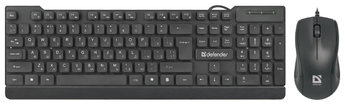 "null Комплект клавиатура + мышь Defender ""C-777 York"" 45779, черный . null."