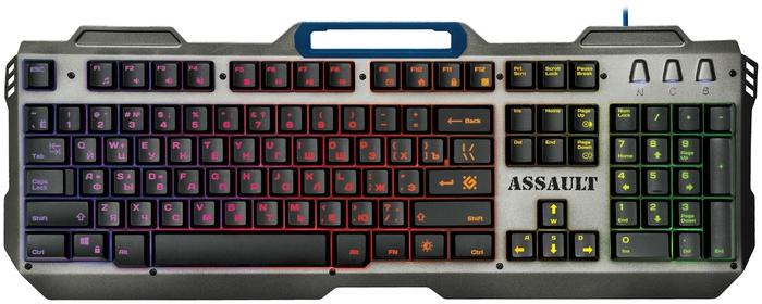 """Клавиатура Defender """"GK-350L Assault"""" 45350, подсветка, водостойкая, черно-серый"""