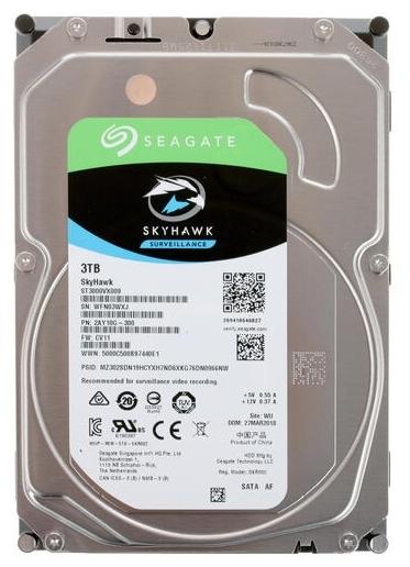"Жесткий диск 3ТБ Seagate ""Surveillance HDD ST3000VX009"", 5400об./мин., 64МБ"