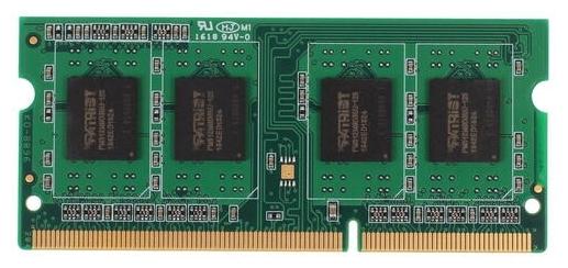 "Модуль оперативной памяти SO-DIMM 4ГБ DDR3 SDRAM Patriot ""PSD34G160081S"""
