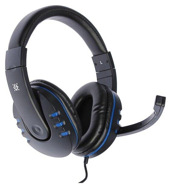 """Гарнитура Defender """"G-160 Warhead"""" 64118, с регулятором громкости, черно-синий"""
