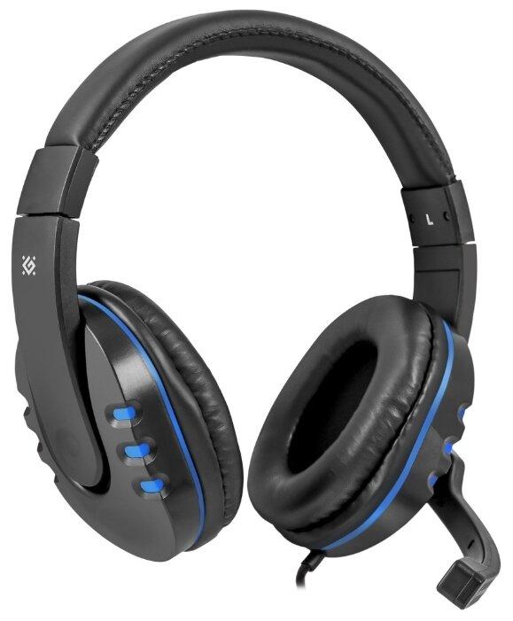 "Гарнитура Гарнитура Defender ""G-160 Warhead"" 64118, с регулятором громкости, черно-синий . null."
