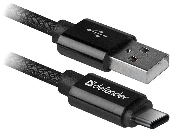 """Кабель USB2.0 AM-Type-C Defender """"USB09-03T Pro"""" 87814, черный"""