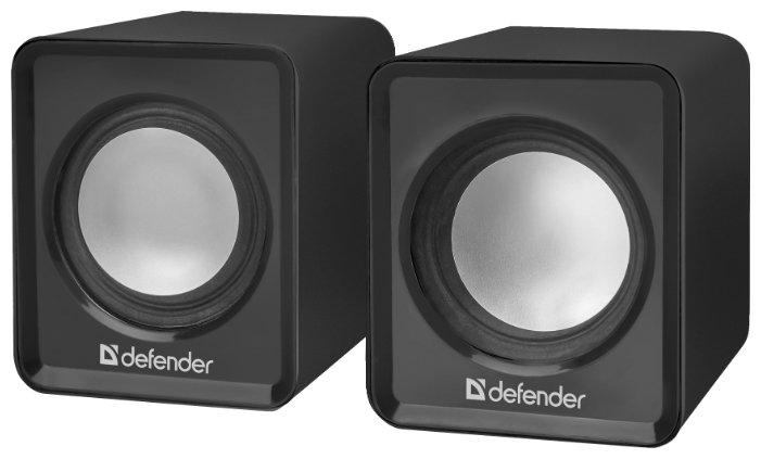 """Акустическая система стерео Defender """"SPK-22"""" 65503, 2x2.5Вт, питание от USB, черный"""