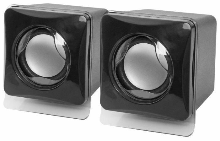 """Акустическая система стерео Defender """"SPK-35"""" 65635, 2x2.5Вт, питание от USB, черный"""