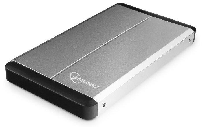 """Контейнер Gembird """"EE2-U3S-2-S"""" для 2.5"""" SATA HDD, алюминиевый, серый"""
