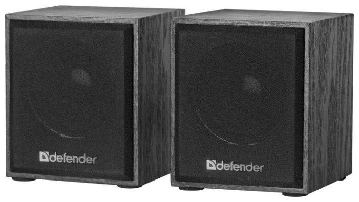 """Акустическая система стерео Defender """"SPK-230"""" 65223, 2x2Вт, питание от USB, черный"""