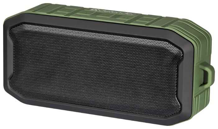 """Акустическая система моно Defender """"G14"""" 65014, 7Вт, портативная, с MP3 плеером, с FM радио, черно-зеленый"""