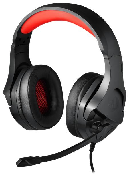 """Гарнитура Defender """"Redragon Gaming Theseus"""" 77777, с регулятором громкости, черно-красный"""