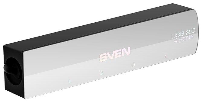"""Разветвитель Разветвитель 4 порта USB2.0 Sven """"HB-891"""", внешн., черный . null."""