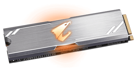 "SSD-диск SSD 256ГБ M.2 GIGABYTE ""AORUS RGB Client GP-ASM2NE2256GTTDR"". null."