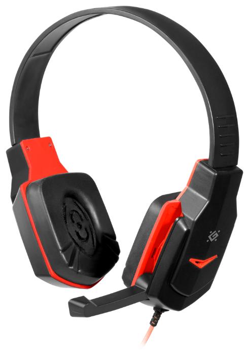 """Гарнитура Defender """"G-320 Warhead"""" 64033, с регулятором громкости, черно-красный"""