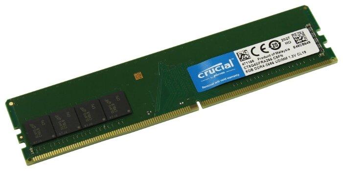 """Модуль оперативной памяти 8ГБ DDR4 SDRAM Crucial """"CT8G4DFRA266"""""""