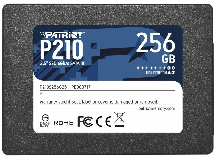 """SSD-диск SSD диск 256ГБ 2.5"""" Patriot """"P210"""" P210S256G25 . null."""