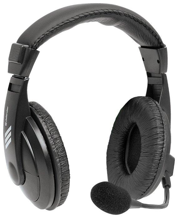 """Гарнитура Defender """"Gryphon-750"""" 63750, с регулятором громкости, черный"""