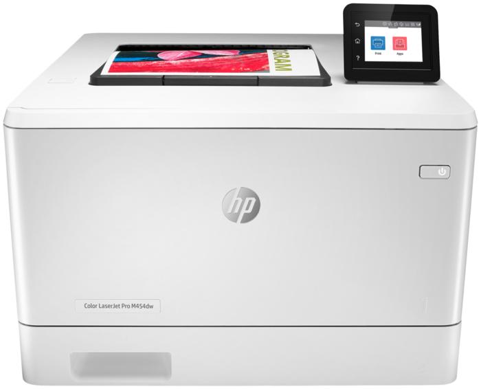 """Цветной лазерный принтер HP """"Color LaserJet Pro M454dw"""" A4, 600x600dpi, белый"""