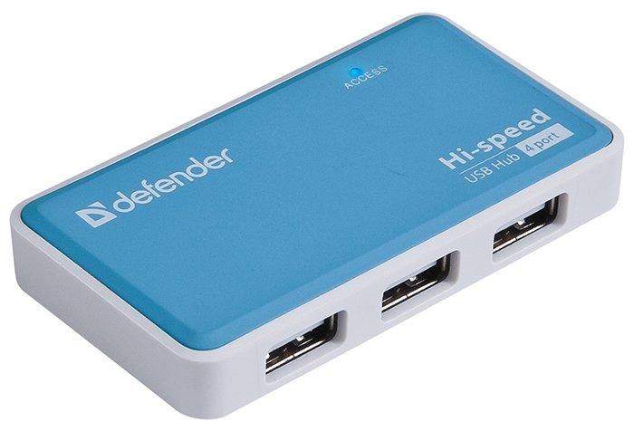 """Разветвитель 4 порта USB2.0 Defender """"Quadro Power"""""""