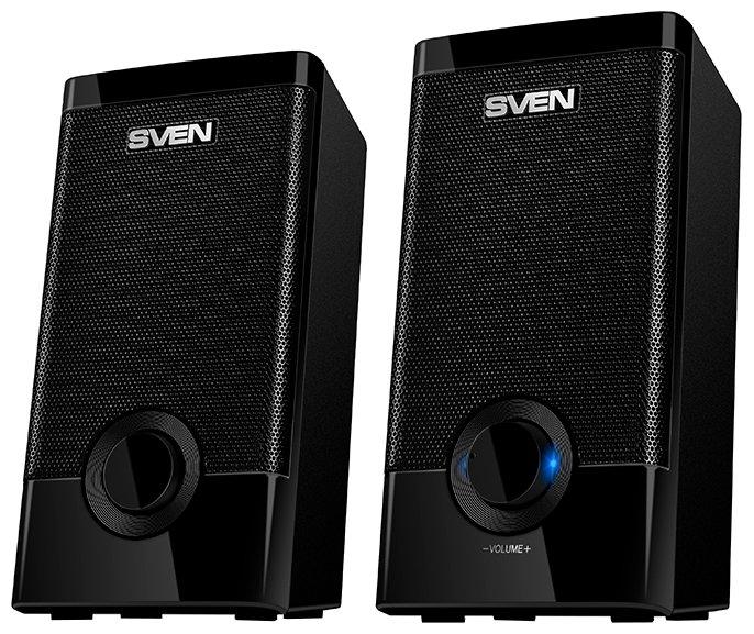 """Акустическая система стерео Sven """"318"""" 2x2.5Вт, питание от USB, черный"""