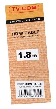 """Кабель Кабель HDMI1.4 TV-COM """"CG200F"""" . null."""