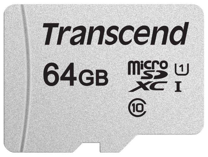 "Карта памяти 64ГБ Transcend ""TS64GUSD300S"" microSD XC UHS-I Class10"