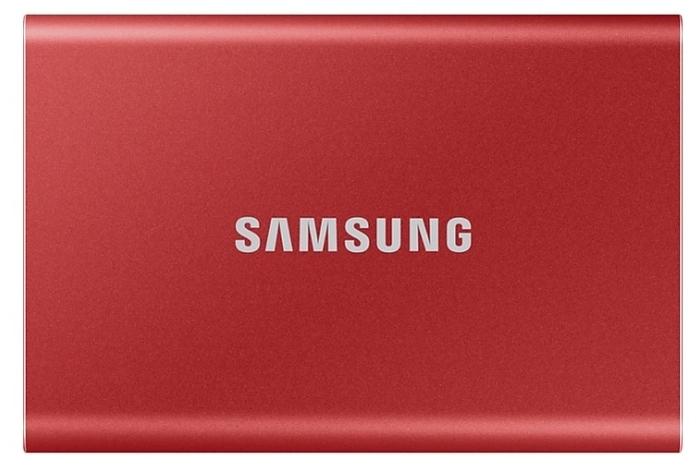 """Внешний SSD диск 1ТБ Samsung """"T7"""" MU-PC1T0R/WW, красный"""