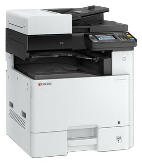 """Многофункциональное устройство Kyocera """"ECOSYS M8124CIDN"""" A3, лазерный, цветной, принтер + сканер + копир, ЖК, бело-серый"""