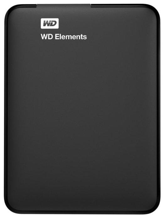 """Внешний жесткий диск 1ТБ 2.5"""" Western Digital """"Elements WDBUZG0010BBK"""", черный"""