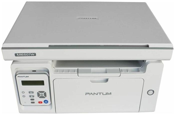 """Многофункциональное устройство Pantum """"M6507W"""" A4, лазерный, принтер + сканер + копир, ЖК, серый"""