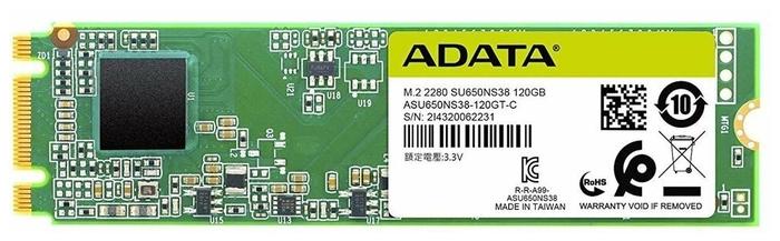 "SSD диск 120ГБ M.2 ADATA ""Ultimate SU650"" ASU650NS38-120GT-C"
