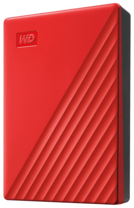 """Внешний жесткий диск 4ТБ 2.5"""" Western Digital """"My Passport WDBPKJ0040BRD"""", красный"""