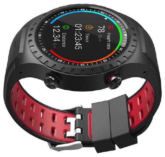 """null Умные часы Geozon """"G-SM02BLKR"""", черно-красный . null."""