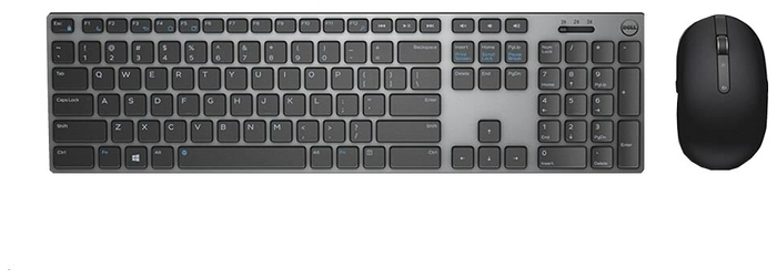 "null Комплект клавиатура + мышь Dell ""KM717"", беспров., черно-серый . null."