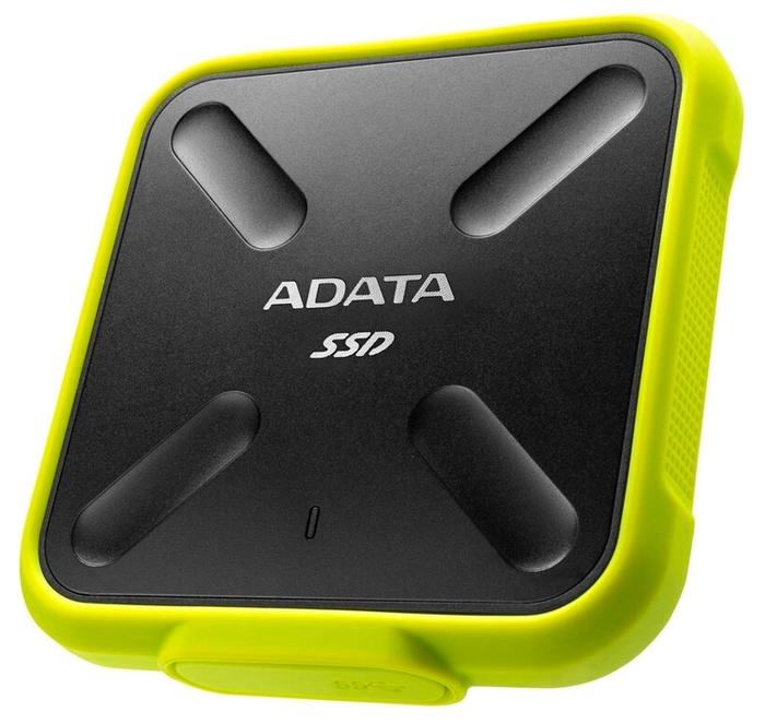 "Внешний SSD диск 256ГБ ADATA ""SD700"" ASD700-256GU31-CYL, черно-желтый"