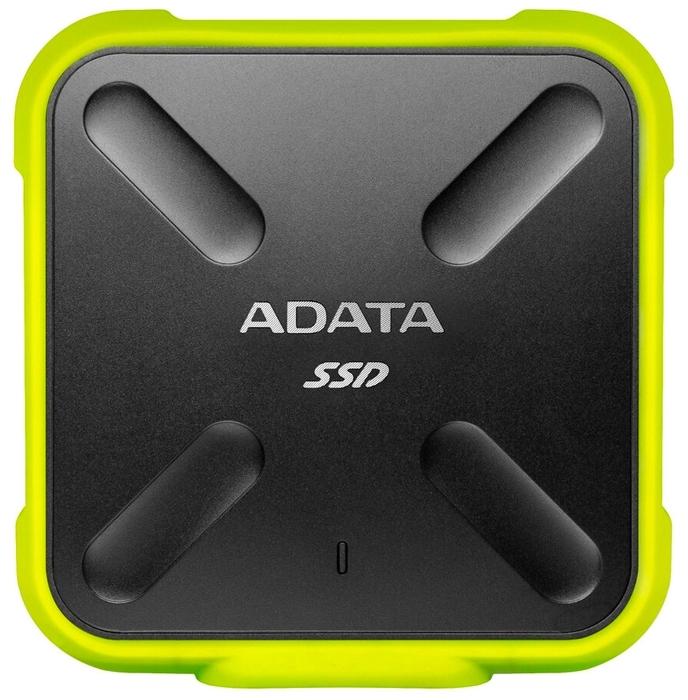 """Внешний SSD диск 1ТБ ADATA """"SD700"""" ASD700-1TU31-CYL, черно-желтый"""
