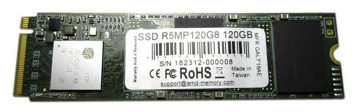 """SSD диск 120ГБ M.2 AMD """"Radeon R5"""" R5MP120G8"""