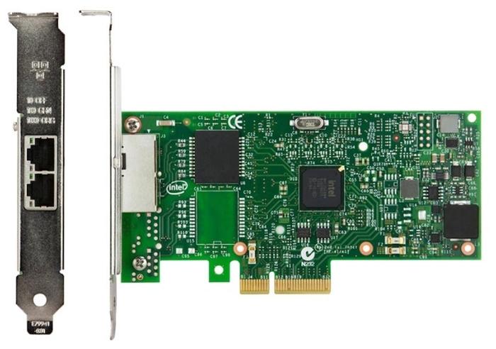 "Серверный сетевой адаптер Ethernet 1Гбит/сек. Intel ""Ethernet Server Adapter I350-T2V2"" I350T2V2BLK"