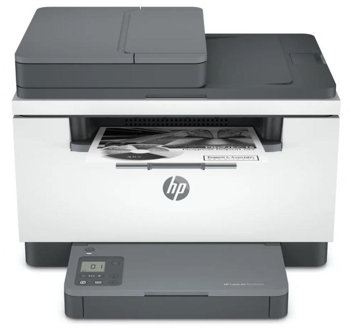 """Многофункциональное устройство HP """"LaserJet MFP M236sdn"""" A4, лазерный, принтер + сканер + копир, ЖК, бело-серый"""
