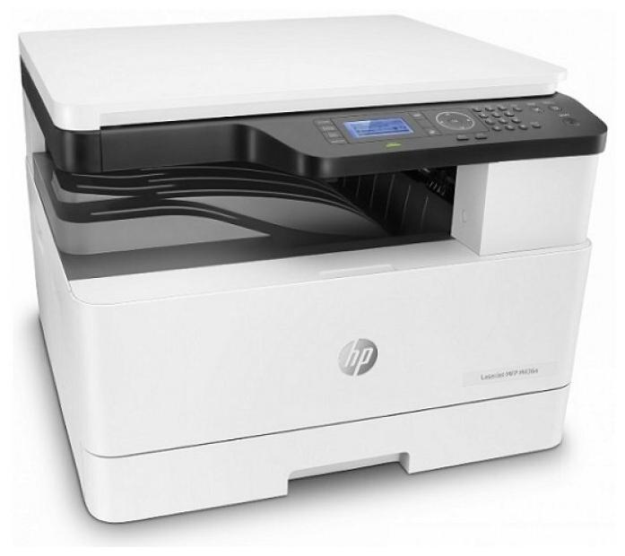 """Многофункциональное устройство HP """"LaserJet M438n"""" A4, лазерный, принтер + сканер + копир, ЖК, бело-серый"""