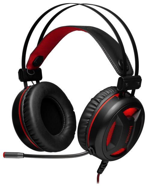 """Гарнитура Defender """"Redragon Gaming Minos"""" 78368, с регулятором громкости, черно-красный"""