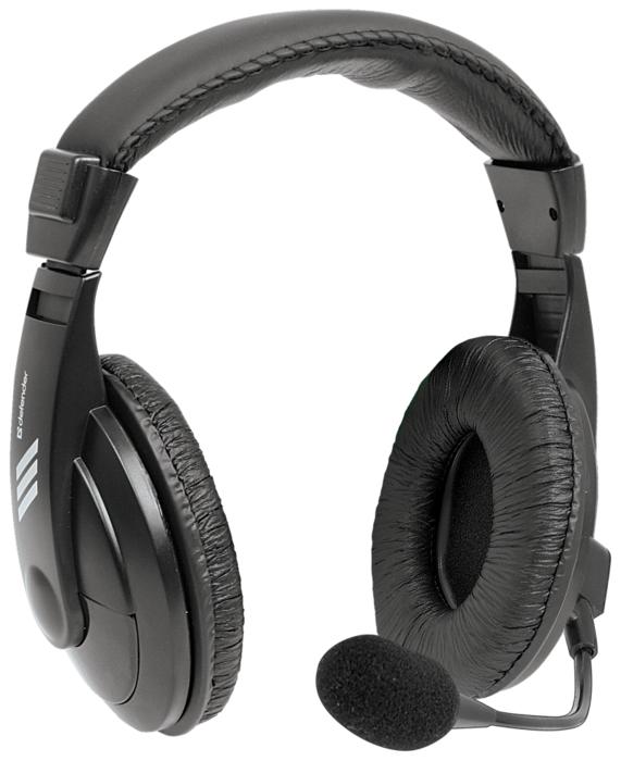 """Гарнитура Defender """"Gryphon-750U"""" 63752, с регулятором громкости, черный"""