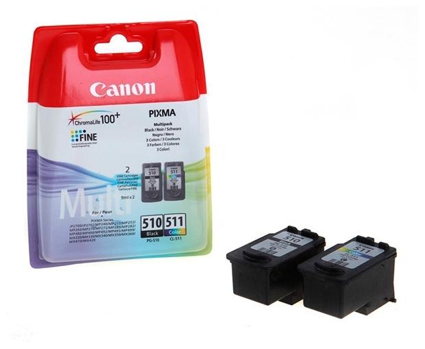 "Комплект картриджей Canon ""PG-510/CL-511 Multi Pack"" для PIXMA iP2700/2702, MP240/250/252/260/270/272/280/282/480/490/492/495/499, MX320/330/340/350"